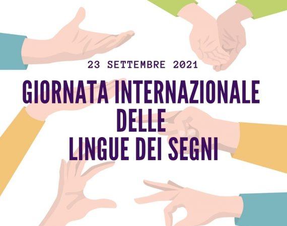 23 settembre, Giornata Internazionale delle Lingue dei Segni